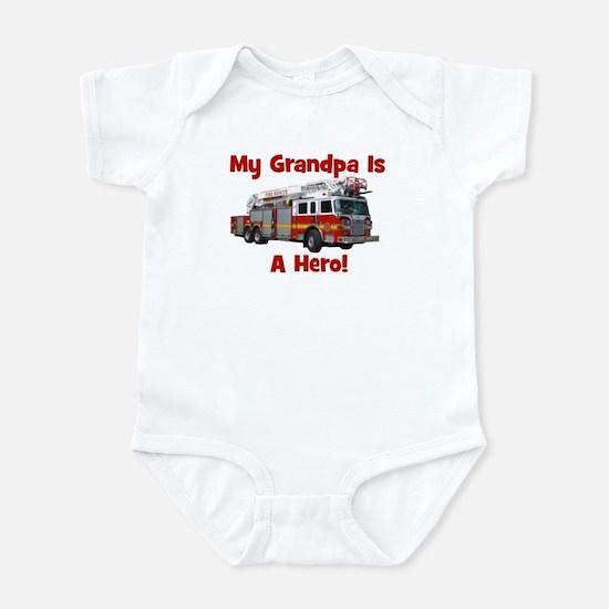 Grandpa Is My Hero FireTruck Infant Bodysuit