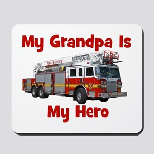 Grandpa Is My Hero FireTruck Mousepad
