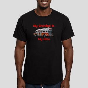Grandpa Is My Hero FireTruck Men's Fitted T-Shirt