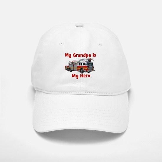 Grandpa Is My Hero FireTruck Baseball Baseball Cap