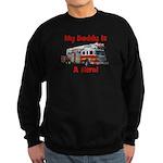 Daddy Is My Hero FireTruck Sweatshirt (dark)