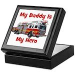 Daddy Is My Hero FireTruck Keepsake Box