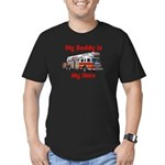 Daddy Is My Hero FireTruck Men's Fitted T-Shirt (d