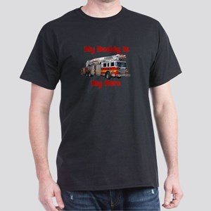 Daddy Is My Hero FireTruck Dark T-Shirt