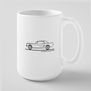 1968 Mustang Hardtop Large Mug