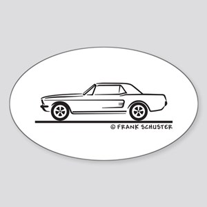 1968 Mustang Hardtop Sticker (Oval)