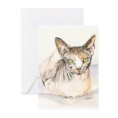 Sphynx Cat Greeting Cards (Pk of 10)