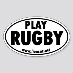 Play Rugby Rugby Humor Sticks Oval Sticker