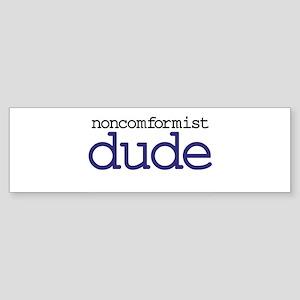 Abiding Non-Conformist Dude Sticker (Bumper)
