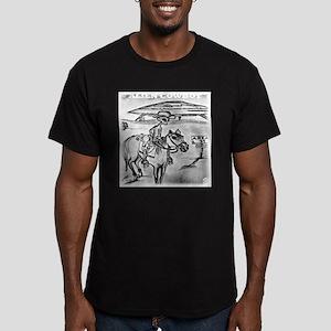 ALIENCOWBOY Men's Fitted T-Shirt (dark)