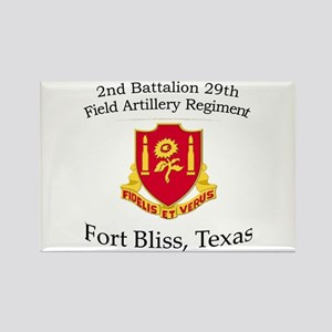 2nd Bn 29th FA Rectangle Magnet