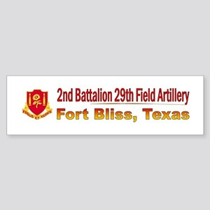 2nd Bn 29th FA Sticker (Bumper)