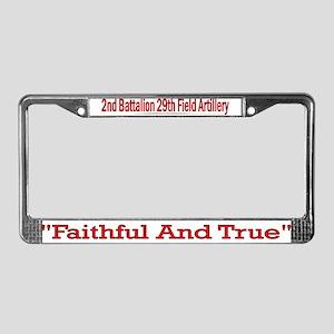 2nd Bn 29th FA License Plate Frame