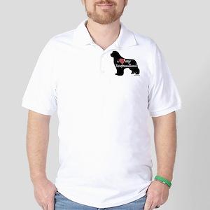 Heart My Newfoundland Golf Shirt