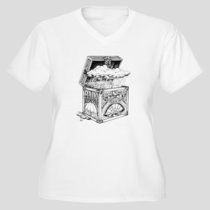 Box of Rain Women's Plus Size V-Neck T-Shirt