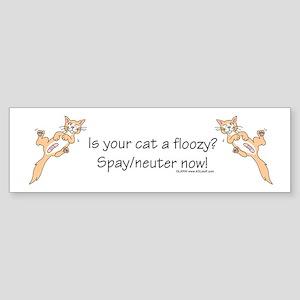 Floozy Cat Sticker (Bumper)