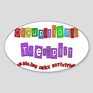 Occupational Therapy Sticker (Oval)