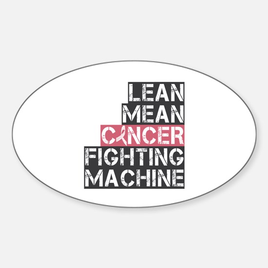 Breast Cancer Fighter Sticker (Oval)