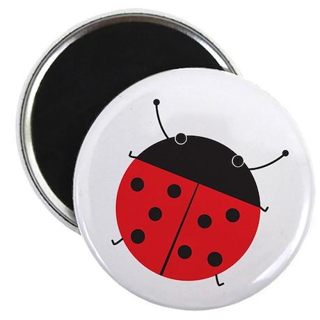 Cute Retro Style Ladybug Magnet