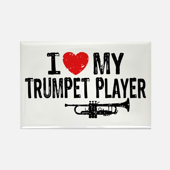 I love My Trumpet Player Rectangle Magnet