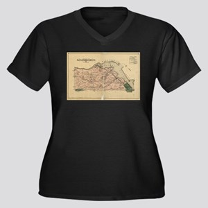 Vintage Map of Alexandria County Plus Size T-Shirt