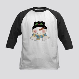 Holiday Snowman Kids Baseball Jersey