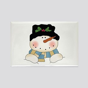 Holiday Snowman Rectangle Magnet
