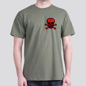 Red Biohazard Skull Dark T-Shirt