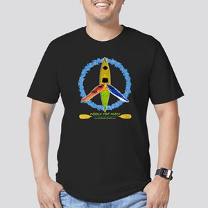 PADDLE FOR PEACE Men's Fitted T-Shirt (dark)