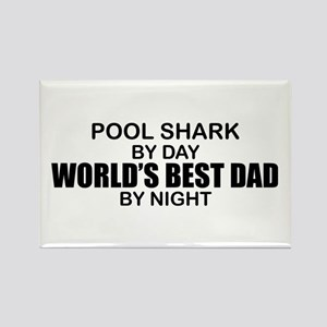 World's Greatest Dad - Pool Shark Rectangle Magnet