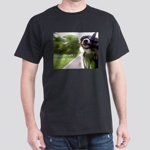 To the Dogpark! Black T-Shirt
