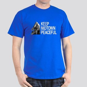 Keep Midtown Peaceful Dark T-Shirt