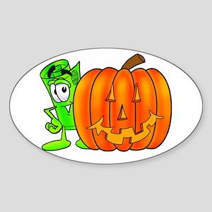 Mr. Deal - Halloween Pumpkin Sticker (Oval)