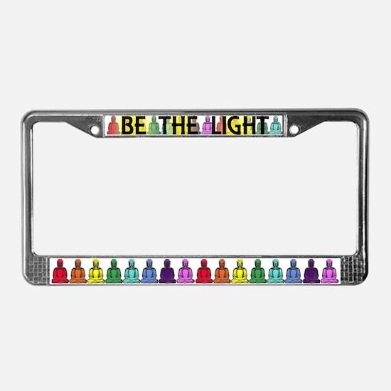 Buddha Rainbow License Plate Frame