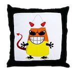 Evil Candy Corn Throw Pillow
