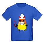 Evil Candy Corn Kids Dark T-Shirt