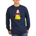 Evil Candy Corn Long Sleeve Dark T-Shirt