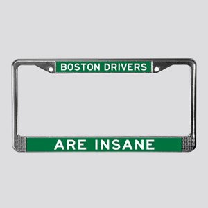 Boston Drivers Are Insane License Plate Frame