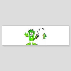 Mr. Deal - Fishing - Money Al Sticker (Bumper)