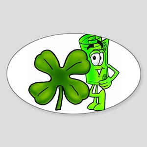 Mr. Deal - Green Clover Sticker (Oval)
