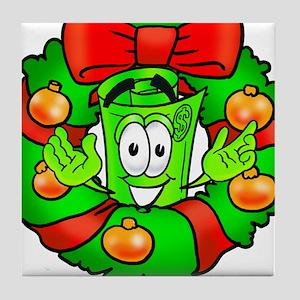Mr. Deal - Christmas - Wreath Tile Coaster