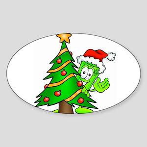 Mr. Deal - Christmas - Christ Sticker (Oval)