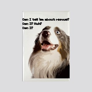 Canine Rescue Advocate Rectangle Magnet