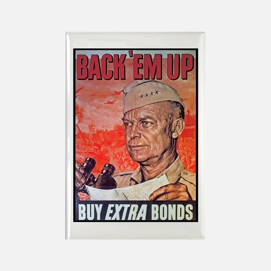 Eisenhower Back Em Up Rectangle Magnet