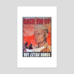 Eisenhower Back Em Up Mini Poster Print