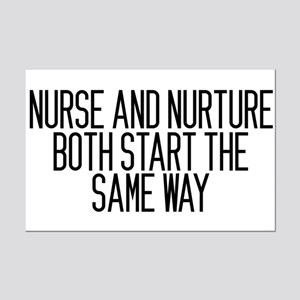 Nurse and Nurture Mini Poster Print