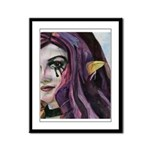 Girl with the Purple Hair - I Feel Changed Framed