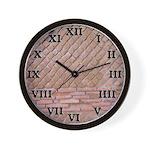 Roman Brick Wall Clock