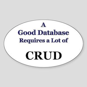 """""""CRUD"""" Oval Sticker"""