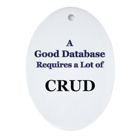 """CRUD"" Oval Ornament"